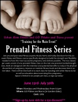 Expecting? Check out this pre-natal pilates and fitnesscourse!